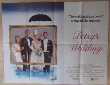 Betsys Wedding. Original UK Quad Poster, Molly Ringwald, Joey Bishop, '90